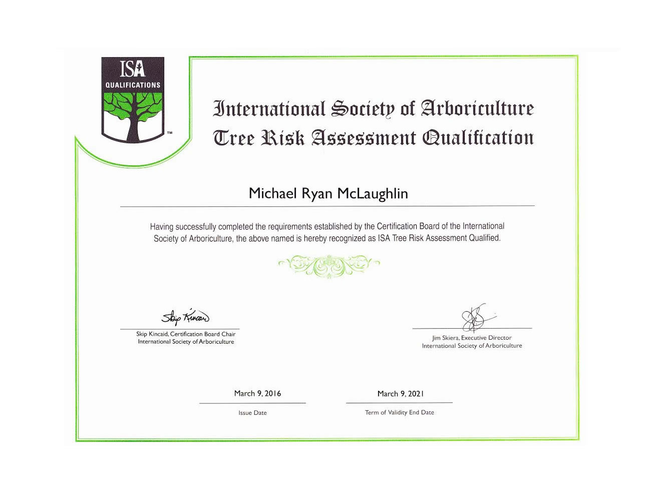 International Society of Arboriculture - Tree Risk Assessment Qualification