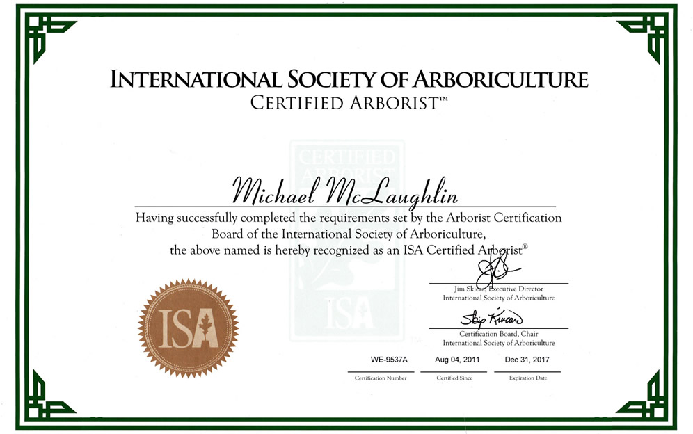 International Society of Arboriculture - Certified Arborist