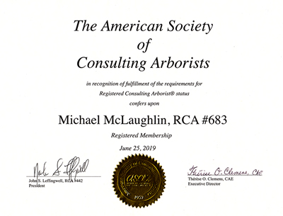 Registered Consulting Arborist #683