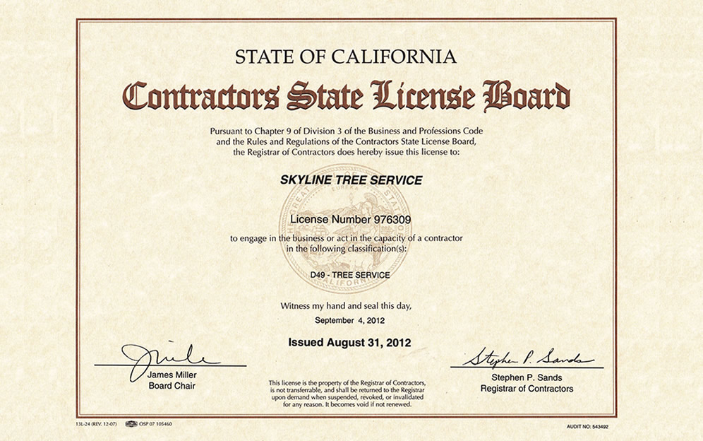 State of California Contractors State License Board