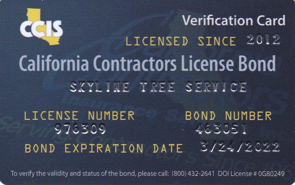 CA Contractors License Bond